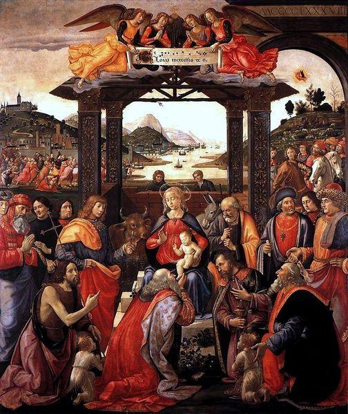 Domenico Ghirlandaio: Adorazione dei Magi (Spedale degli Innocenti)