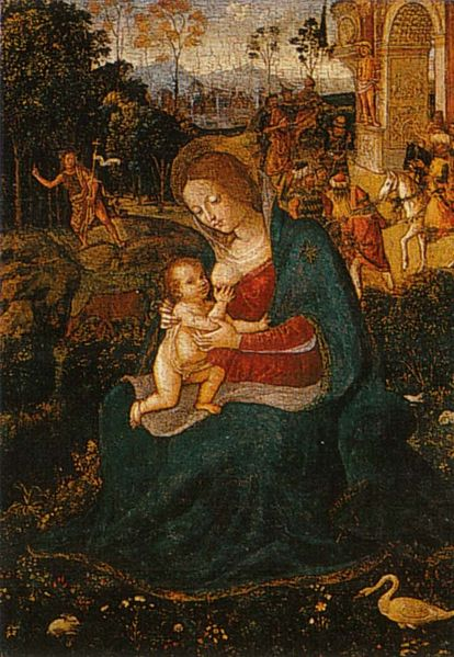 Pinturicchio: Madonna del Latte (Houston)