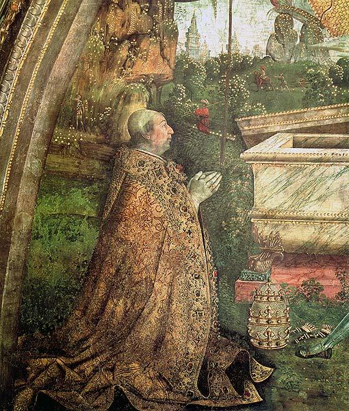 Dipinti nell'Appartamento Borgia di Pinturicchio - Papa Alessandro VI in preghiera