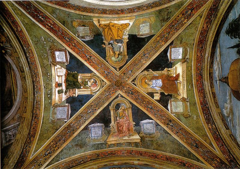 Pinturicchio: La volta con le sibille nella Cappella Baglioni