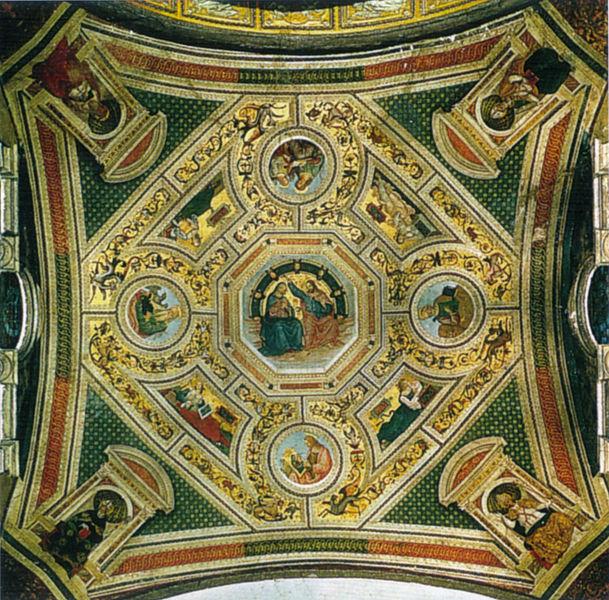 Pinturicchio: Volta con Incoronazione della Vergine, Evangelisti, Sibille e Dottori della Chiesa
