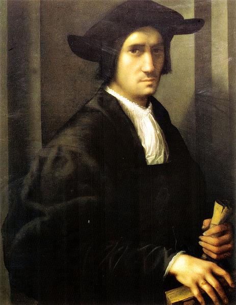 Ritratto di giovane in nero di rosso fiorentino for A tavola con guy