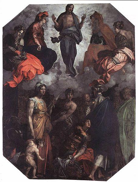 Rosso Fiorentino: Cristo risorto in gloria (Città di Castello)