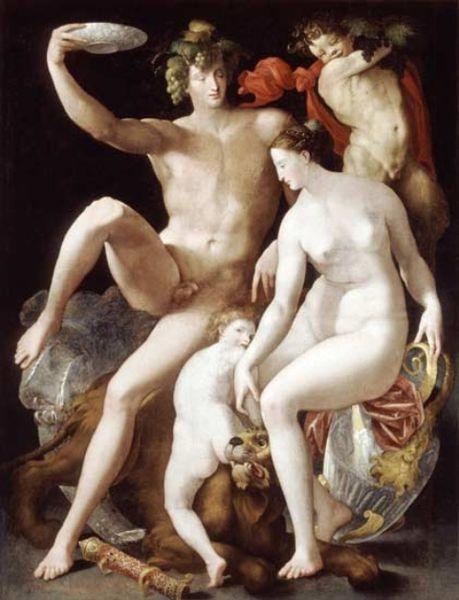 Rosso Fiorentino: Bacco, Venere e Amore (Lussemburgo)