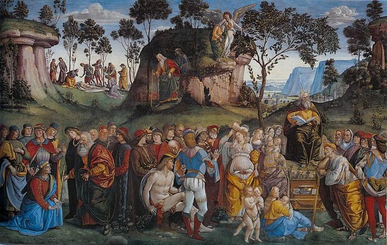 Luca Signorelli: Testamento e morte di Mosè di Luca Signorelli (Cappella Sistina)