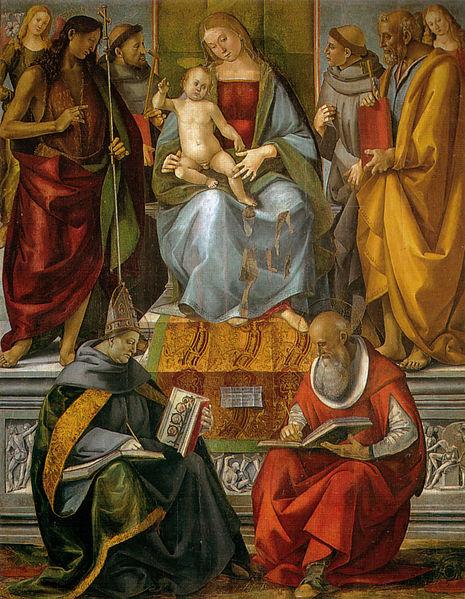 Vergine in trono e santi di Luca Signorelli