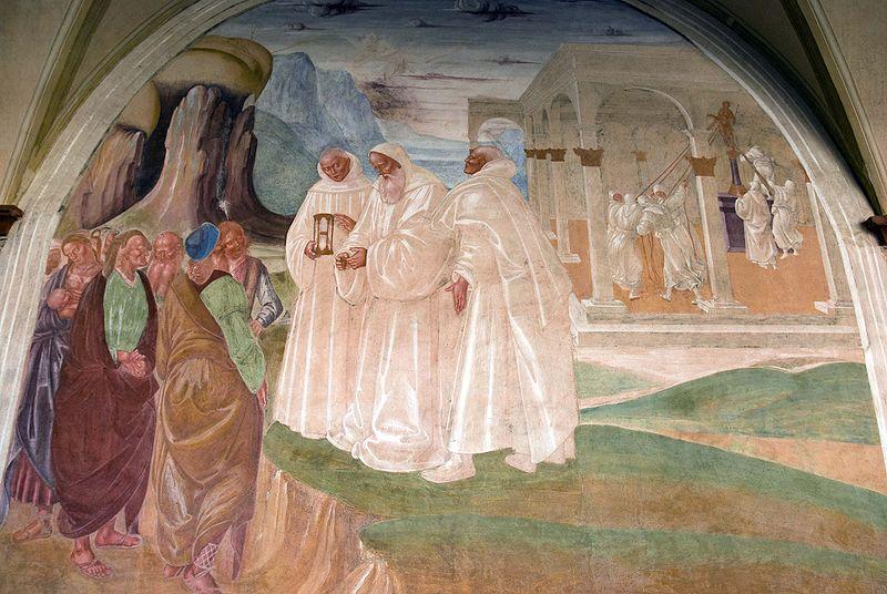 San Benedetto converte gli abitanti di Montecassino