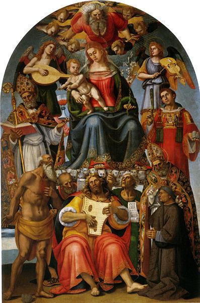 Luca Signorelli: Madonna col Bambino e santi