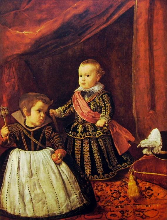 Il principe Baltasar Carlos con un nano, Boston Museum of Fine Arts (cm. 104)