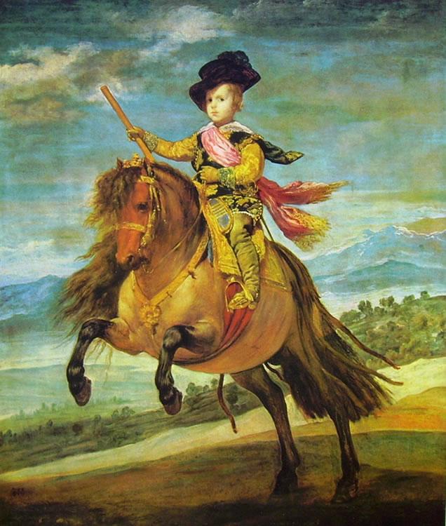 Il principe Baltasar Carlos a cavallo, 209 x 173 cm.