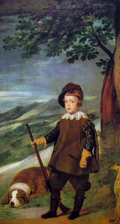Il Principe Baltasar Carlos cacciatore, Madrid Prado (cm. 103)