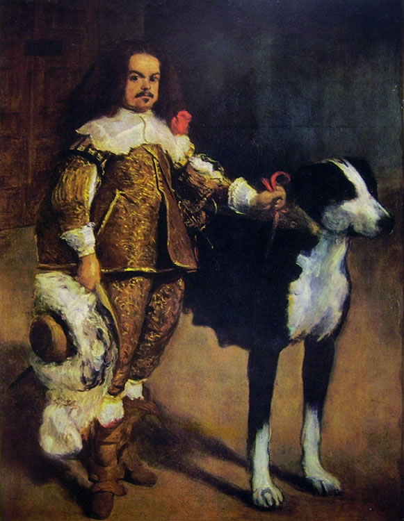 Nano con cane, Madrid Prado (cm. 107)