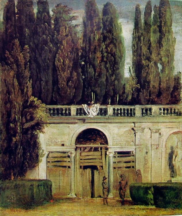 L'entrata della grotta a Villa Medici di Roma, Madrid Prado (cm. 42)