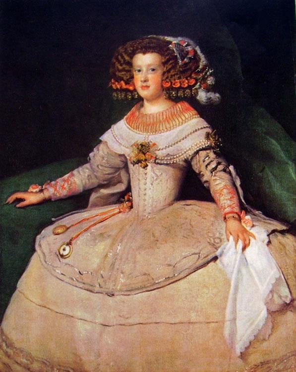 L'infanta Maria Teresa, Vienna Kunsthistorisches Museum (cm. 99)