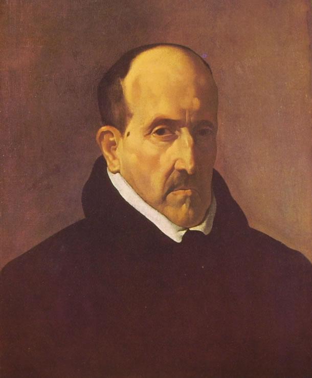 Ritratto di Luis de Gongora di Velazquez, Boston Museum of Fine Arts, 51 x 41 cm.