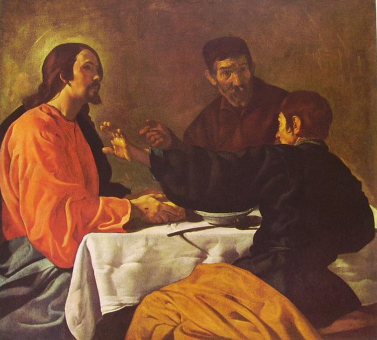 La cena in Emmaus, New York, Metropolitan Museum, 123 x 132,6 cm.