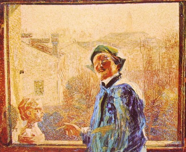Umberto Boccioni:Ritratto dello scultore Brocchi