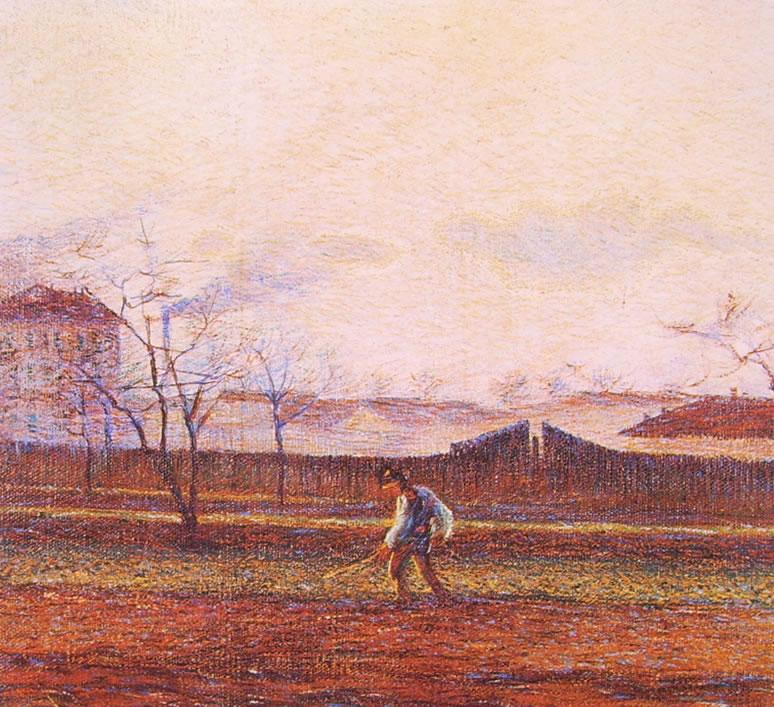 Umberto Boccioni:Contadino al lavoro