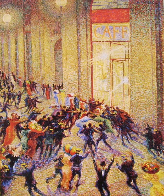 Umberto Boccioni:Rissa in Galleria