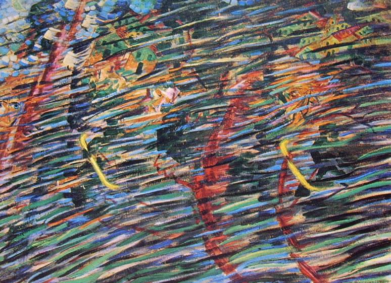 Umberto Boccioni:Stati d'animo (ciclo n° 1): Quelli che vanno