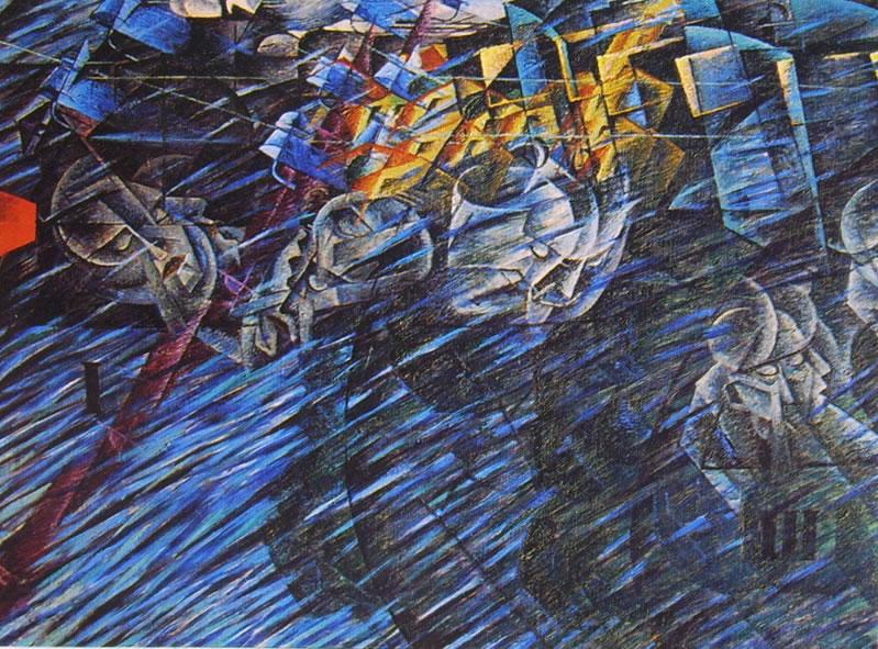 Umberto Boccioni:Stati d'animo (ciclo n° 2): 2 - Quelli che vanno
