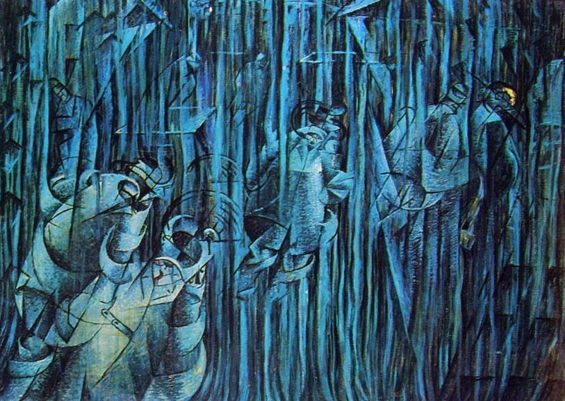 Umberto Boccioni:Stati d'animo (ciclo n° 2): 3 - Quelli che restano