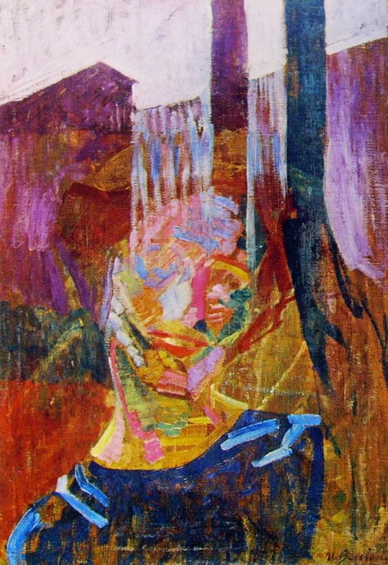Boccioni: Scomposizione di una testa di donna