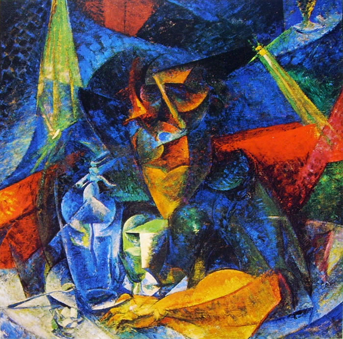 Umberto Boccioni: Scomposizione di figura di donna a tavola