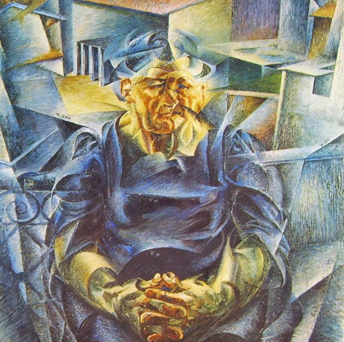 Umberto Boccioni: Volumi orizzontali