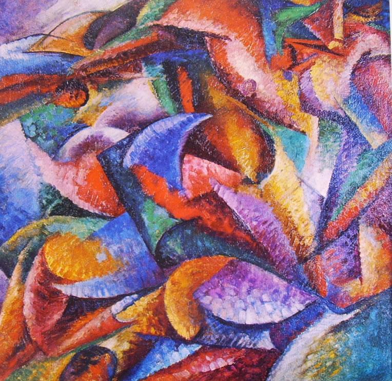 Umberto Boccioni: Dinamismo di un corpo umano n° 1