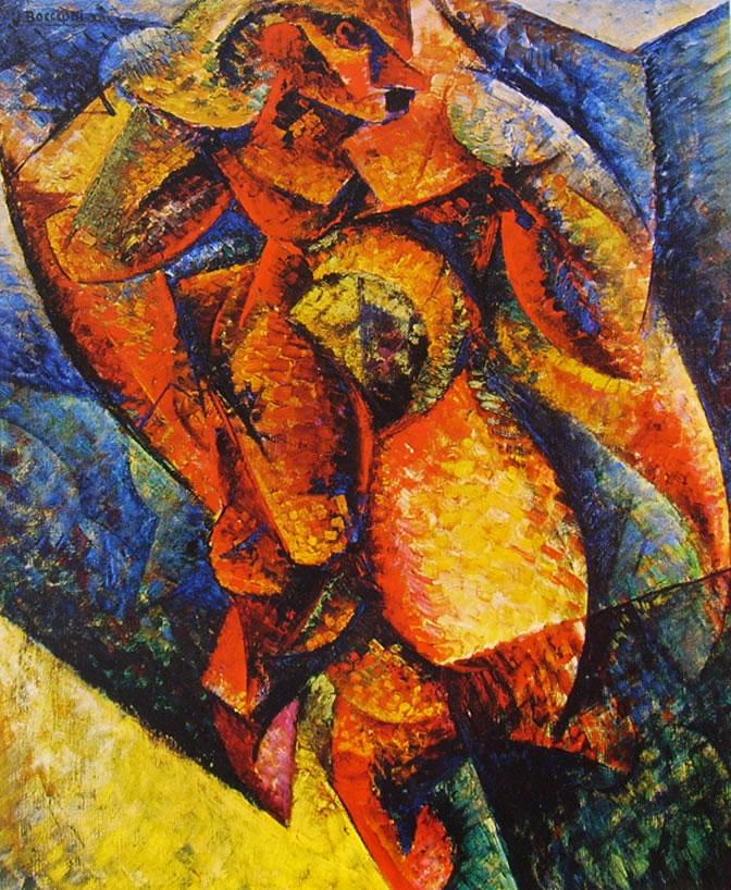 Umberto Boccioni:Dinamismo di un corpo umano n° 2