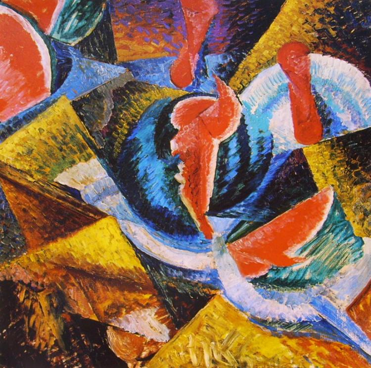 Umberto Boccioni: Natura morta: Cocomero