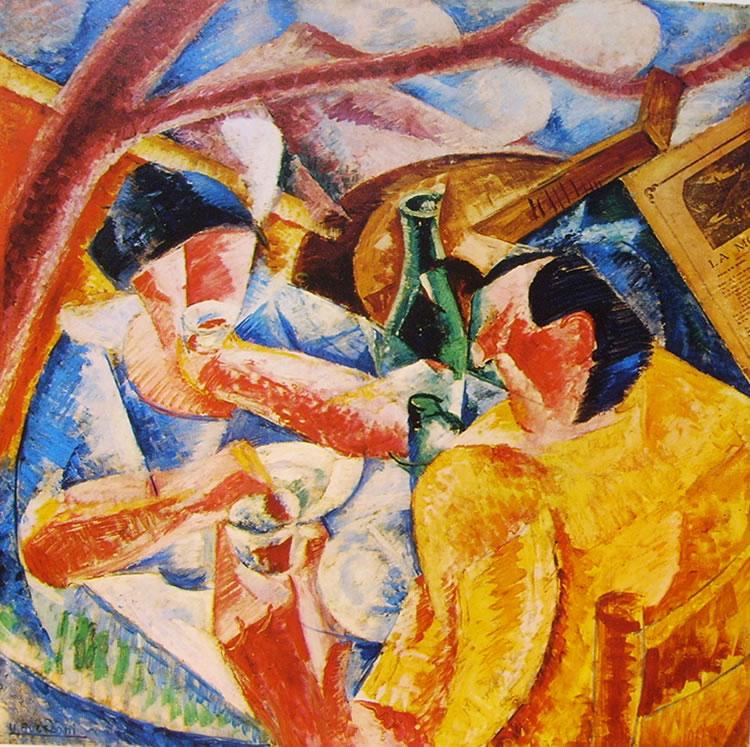 Umberto Boccioni:Sotto la pergola a Napoli