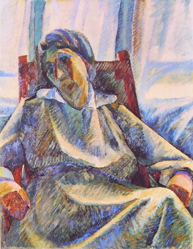 Umberto Boccioni:Sintesi plastica di figura seduta