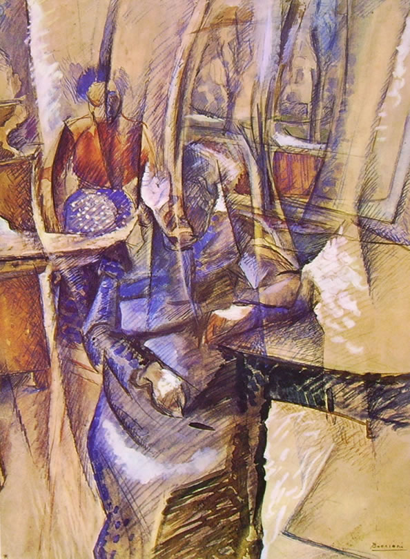 Umberto Boccioni:Interno con due donne