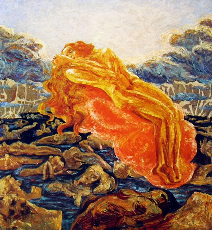 Paolo e Francesca di Umberto Boccioni