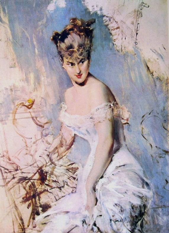 Giovanni Boldini: Ritratto dell'attrice Alice Regnault