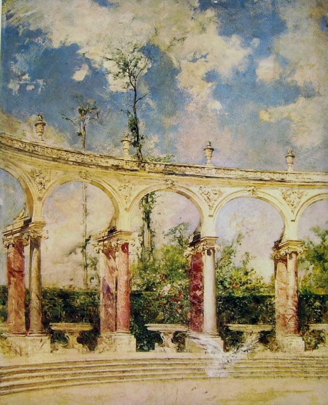 Giovanni Boldini: La colonnade di Versailles