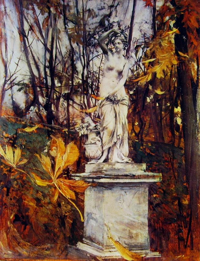 Giovanni Boldini: Statua nel parco di Versailles