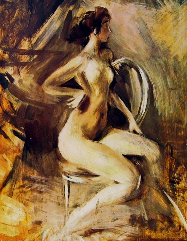 Giovanni Boldini: Nudino scattante