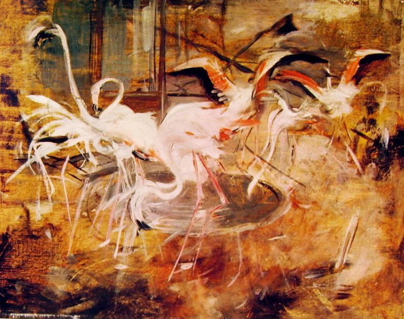 Giovanni Boldini: Ibis nel 'Palais rose' al Vesinet