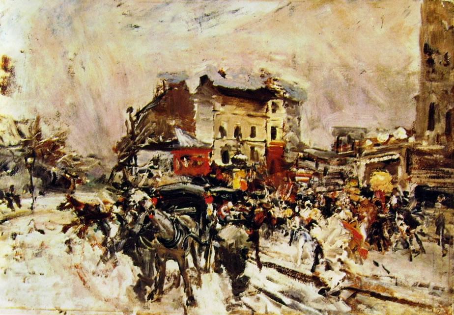 Giovanni Boldini: Uscita da un ballo mascherato a Montmartre