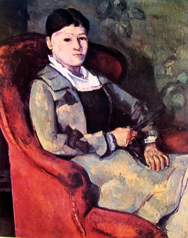 Paul Cezanne: La signora Cezanne con ventaglio