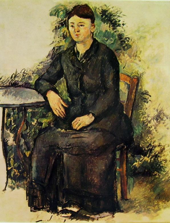 Paul Cezanne: Ritratto della signora Cezanne in Giardino