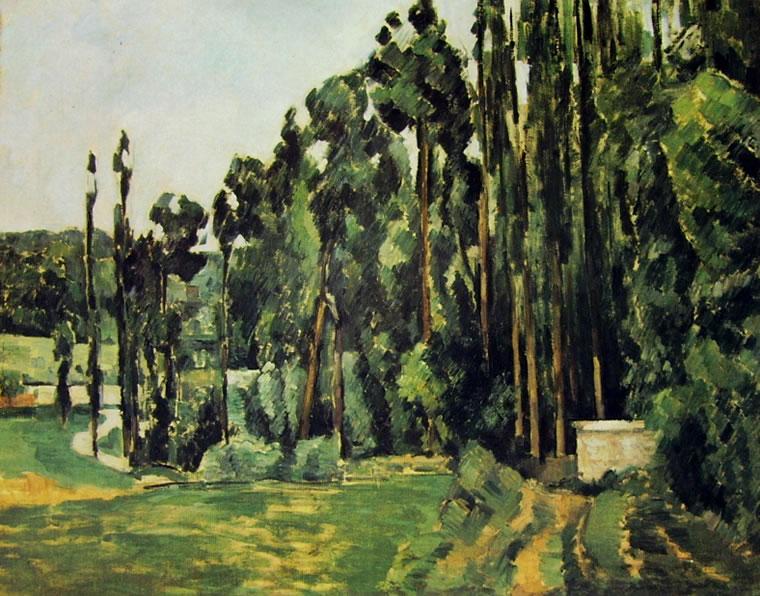 Paul Cezanne: Pioppi (Louvre)