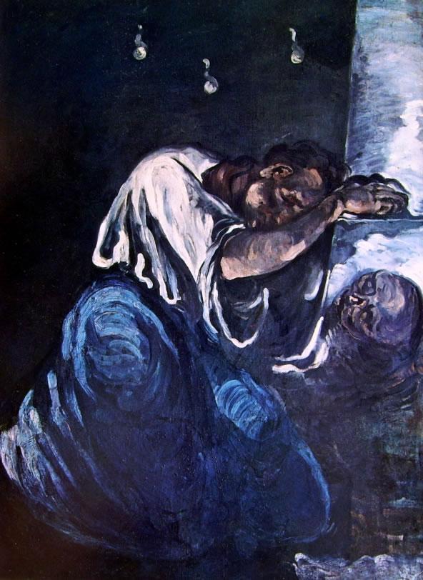 Paul Cezanne: Il dolore, o Maddalena (Louvre)