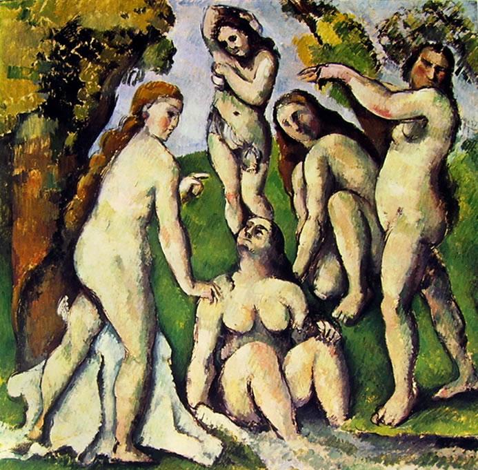 Paul Cezanne: Cinque bagnanti (Basilea)