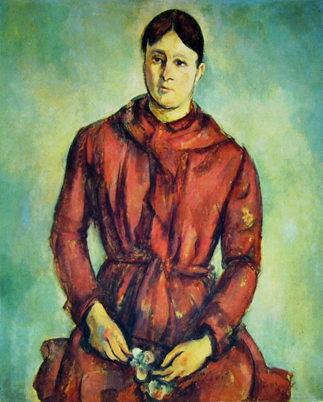 Paul Cezanne: Ritratto della Signora Cezanne in rosso