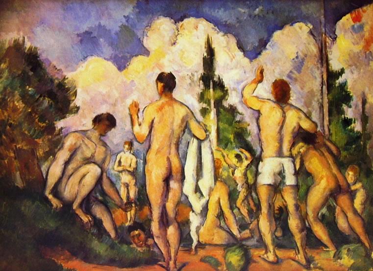 Paul Cezanne: Gruppo di Bagnanti (Louvre)