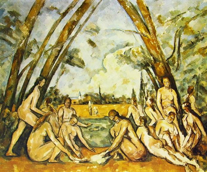 Paul Cezanne: Le grandi bagnanti (Filadelfia)